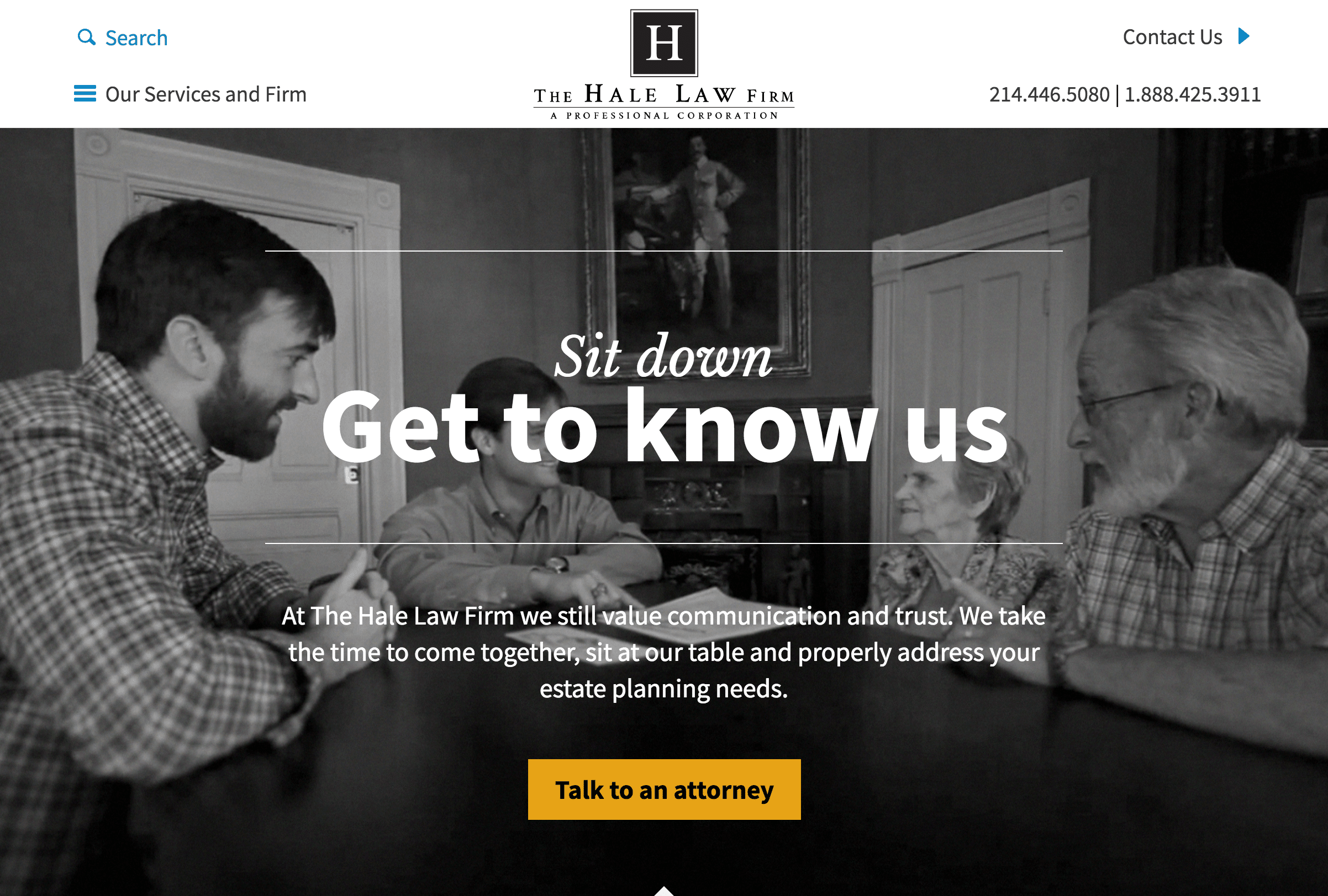 Hale-homepage