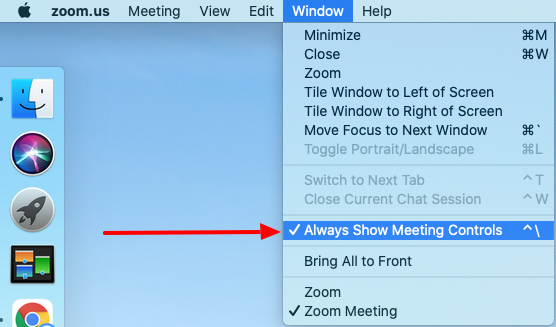 Step1 - Always show meeting controls