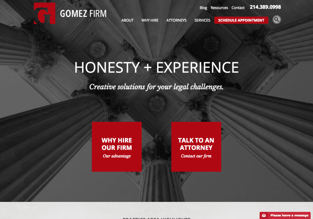Website Design for Gomez Law Firm in Texas