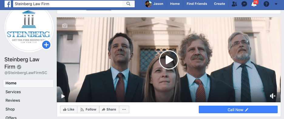 Steinberg Law Firm Facebook Video